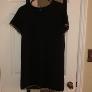 Black t/shirt dress with chains